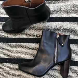 Zara leather ankle boots 37